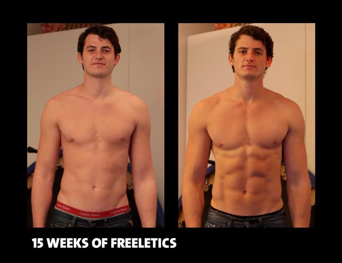 Freeletics træningsprogram transformation